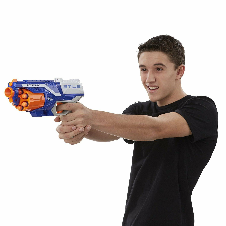 Nerf Strongarm Elite Blaster Dart Disruptor Gun Toy Kids Darts