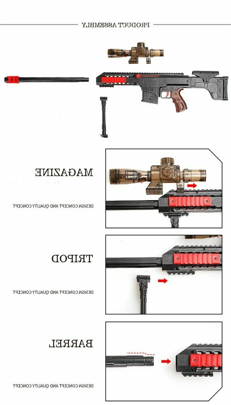 Nerf N Gun Soft Bullets Shooting Rifle Sniper