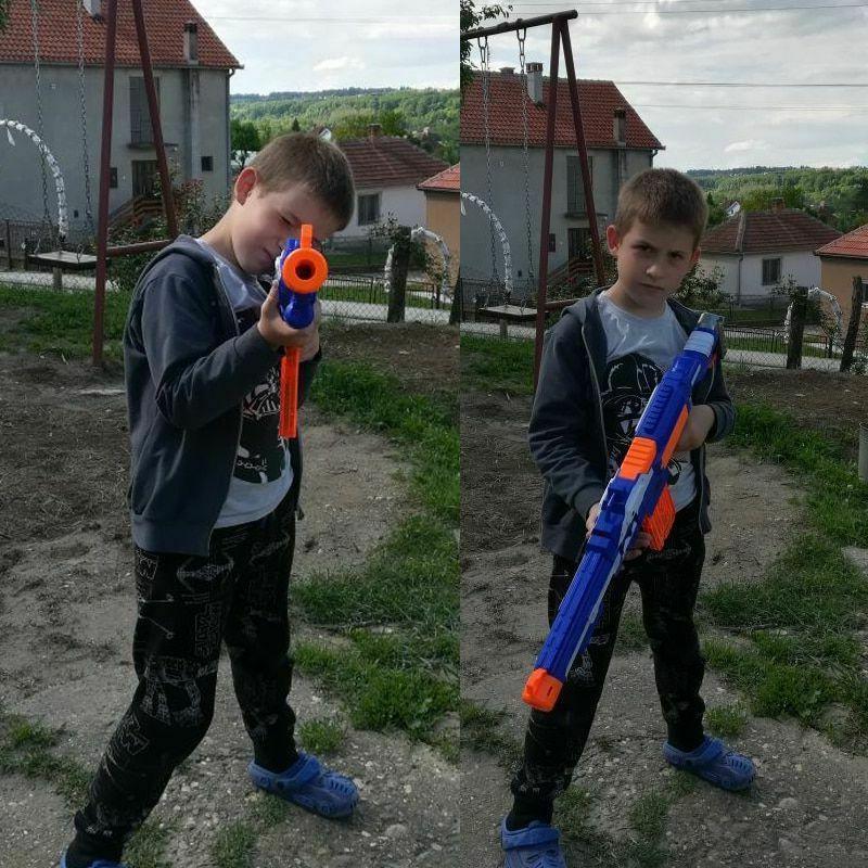 Nerf Gun Plastic Strike Sniper Rifle Pistol Toy