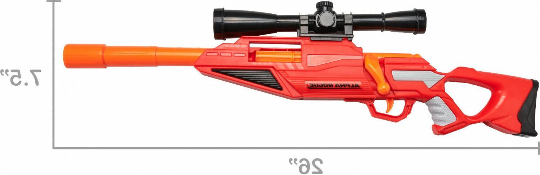 Nerf Sniper Blaster w Rail Adapter 4 Foam