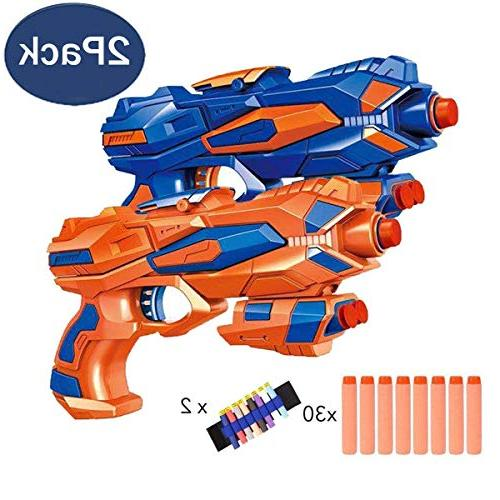 Fstop Foam Hand Blaster Gun Compatible Nerf with Foam and Refill Soft Foam EVA