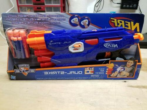 nerf n strike elite dualstrike blaster gift