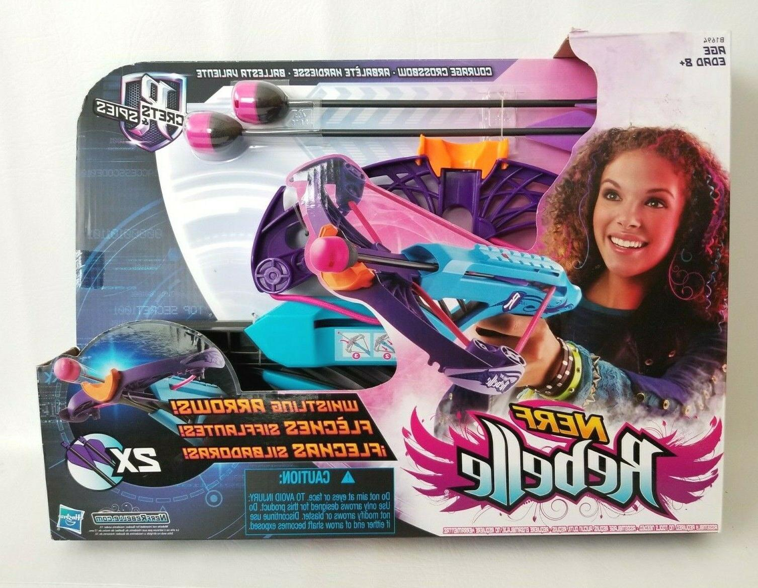 nerf rebelle courage crossbow blaster whistling arrows