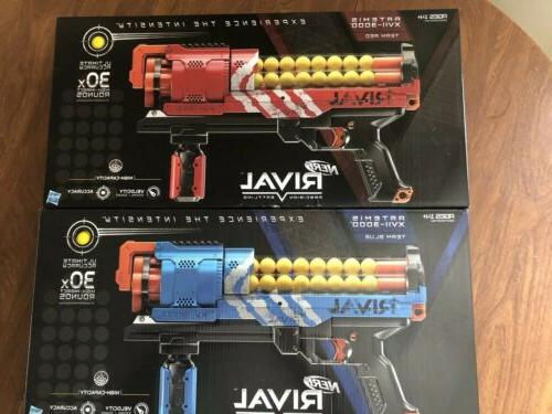 NERF Rival Blue and Red Blasters w/refills Axes! 🔫