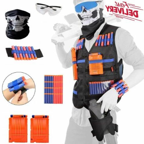 nerf tactical vest kit boys game gun