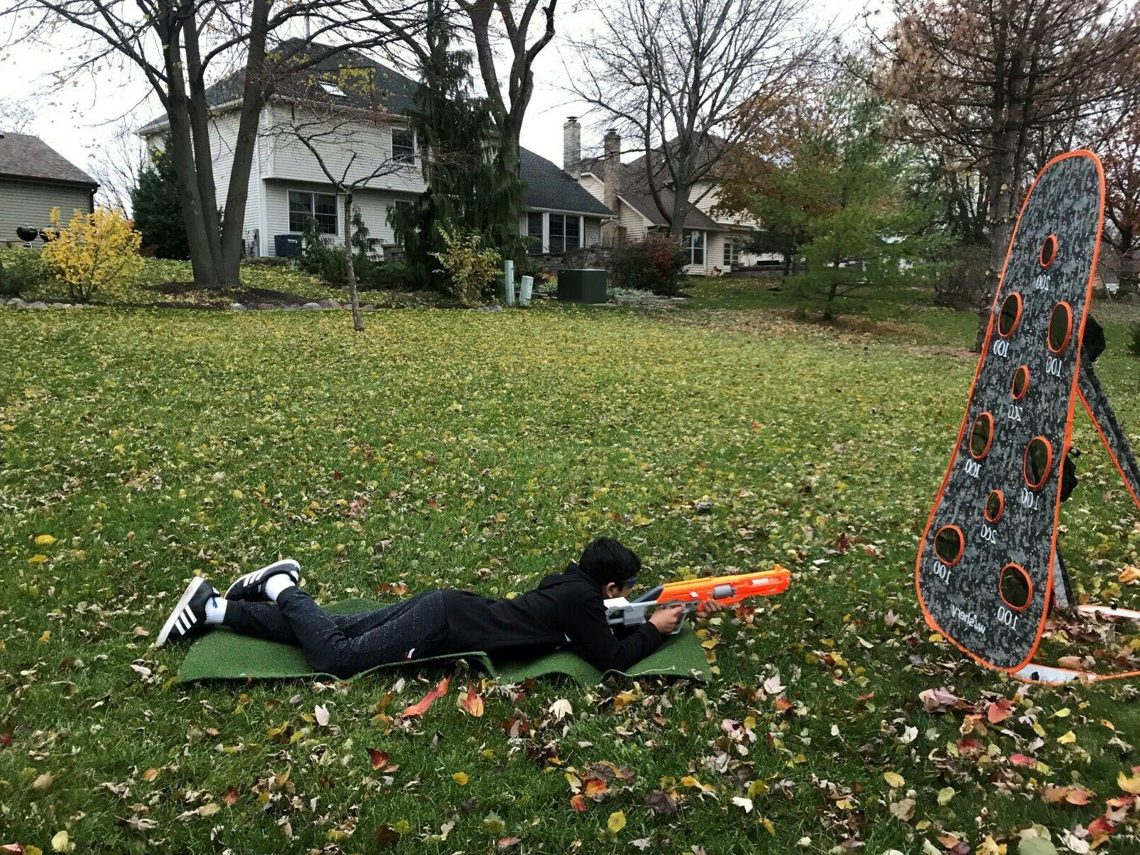 Nerf target compatible with Nerf shooting practice kids.