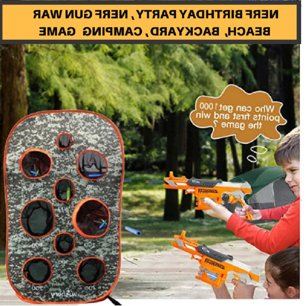 Nerf Nerf Guns.Outdoor Target shooting practice for