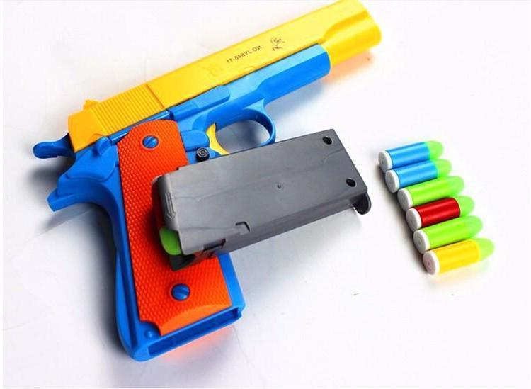 Nerf Toy Gun Classic Kids Strike Fun Dart Guns 10x Soft