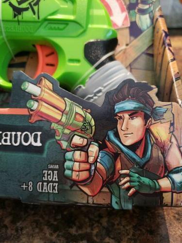 NEW NERF Zombie Strike gun barrel shot pistol