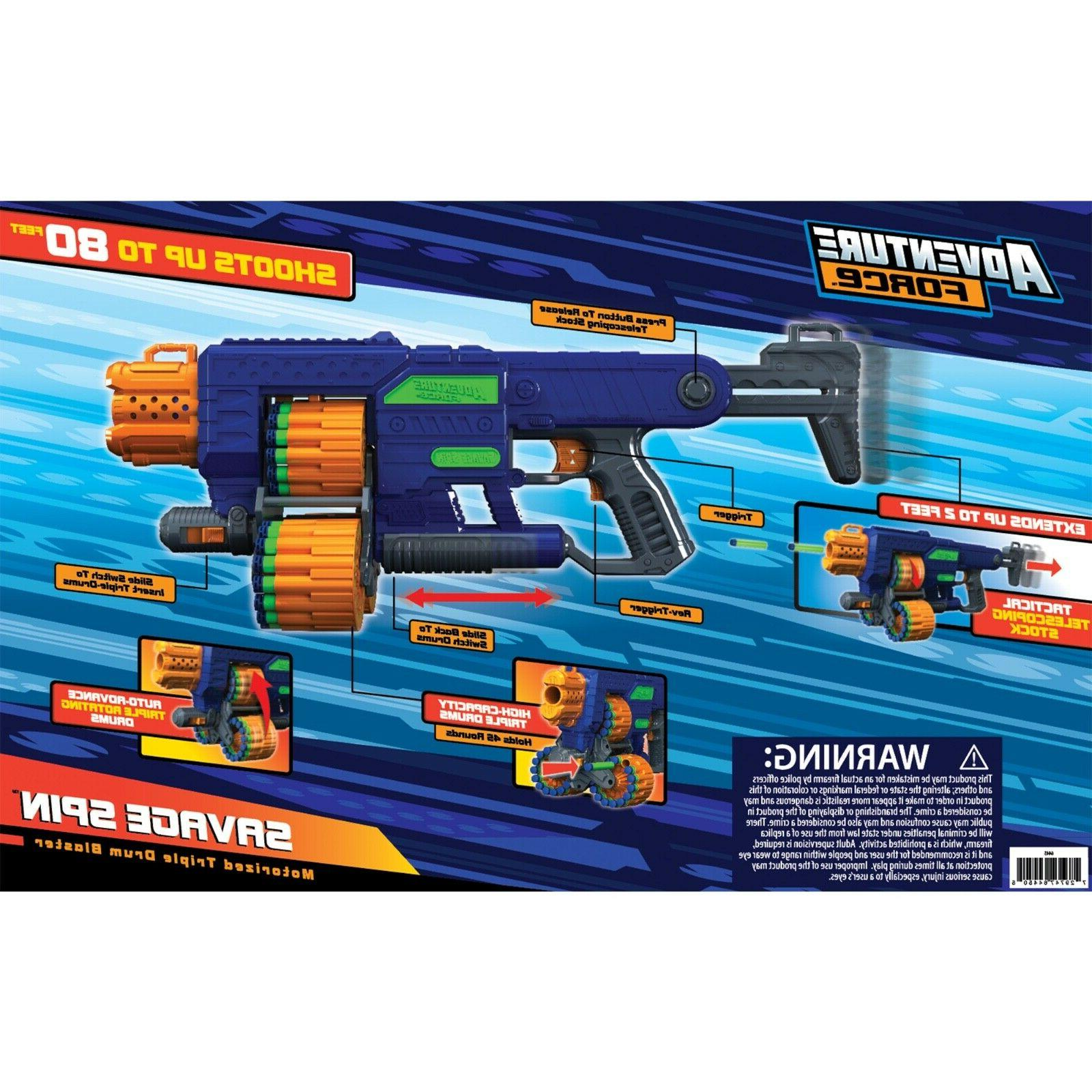 New Dart Nerf Compatible Motorized Blaster Toy 80ft