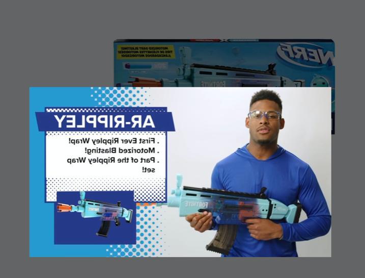 New Nerf Gun Fortnite AR Rippley Motorized Dart Blaster Boy's Guns Rifle