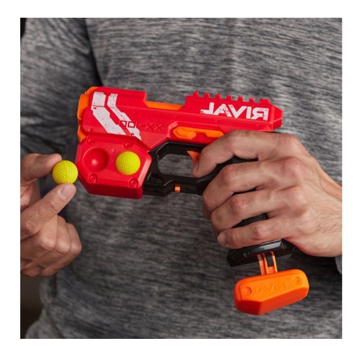 New Nerf Gun Knockout Blaster Blue Guns Foam Darts
