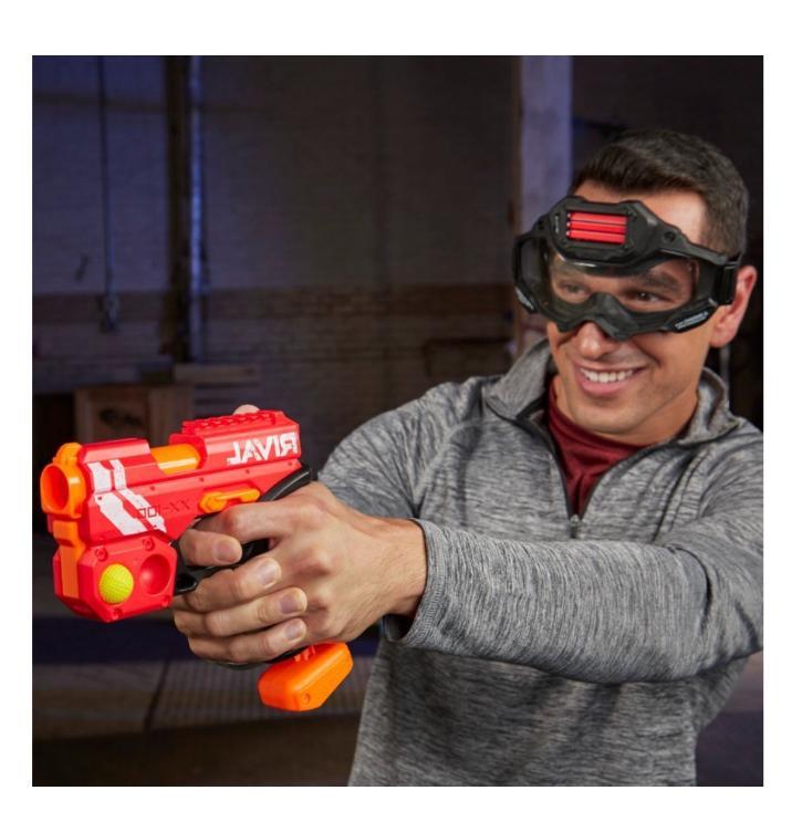 New Nerf Knockout Red Blue Boy's Hand Guns Foam