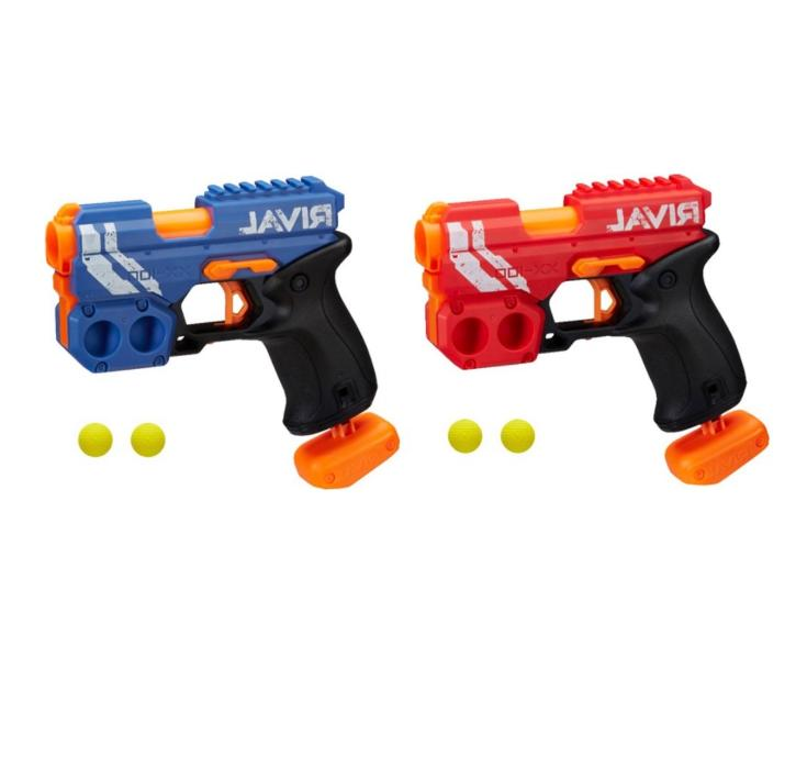 New Rival Knockout Blaster Red Blue Guns Foam Darts