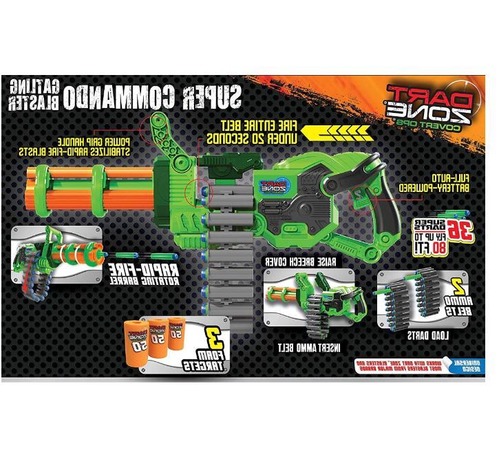 New Nerf Dart Machine Gun Toy Guns Boys Blaster