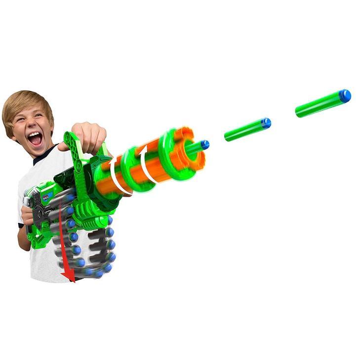 new nerf dart machine gun motorized fully