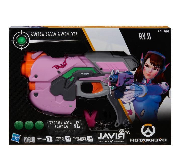 New Nerf Rival Overwatch D.Va Blaster Girl's Toy Handgun Rounds