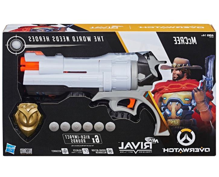 New Rival Overwatch McCree Blaster Cannon 6 Rounds Boy's Toy Guns