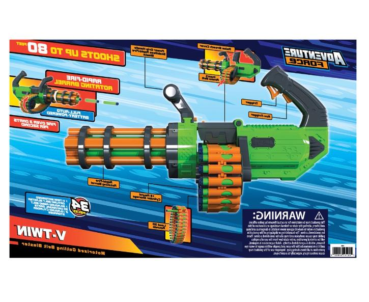 New Twin Motorized Belt Dart Blaster Foam Dart Guns for Boys