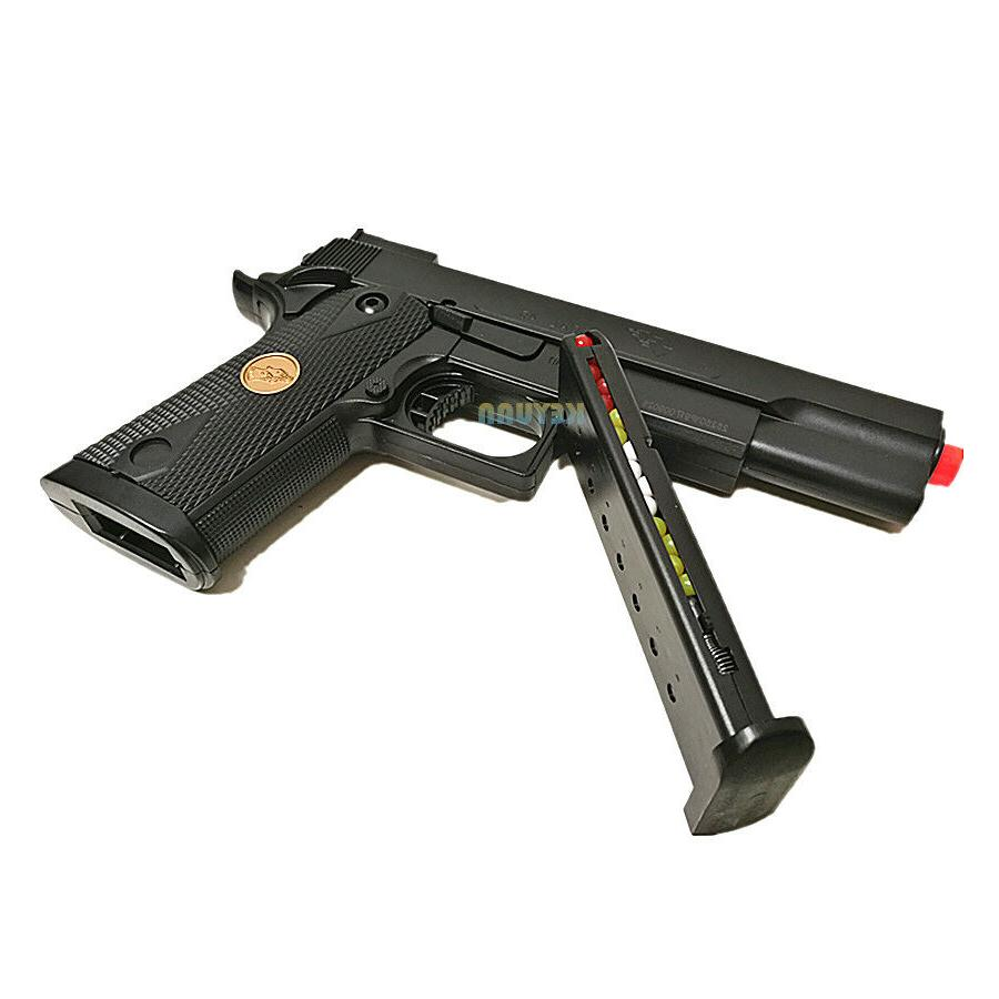 Double Eagle Airsoft Hand Size Spring Pistol W/1000 BBs