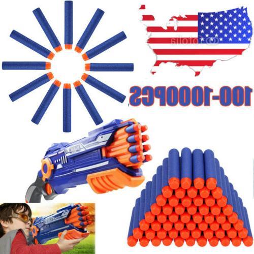100-1000PCS Refill Bullet Darts FOR Nerf N-strike Elite Seri
