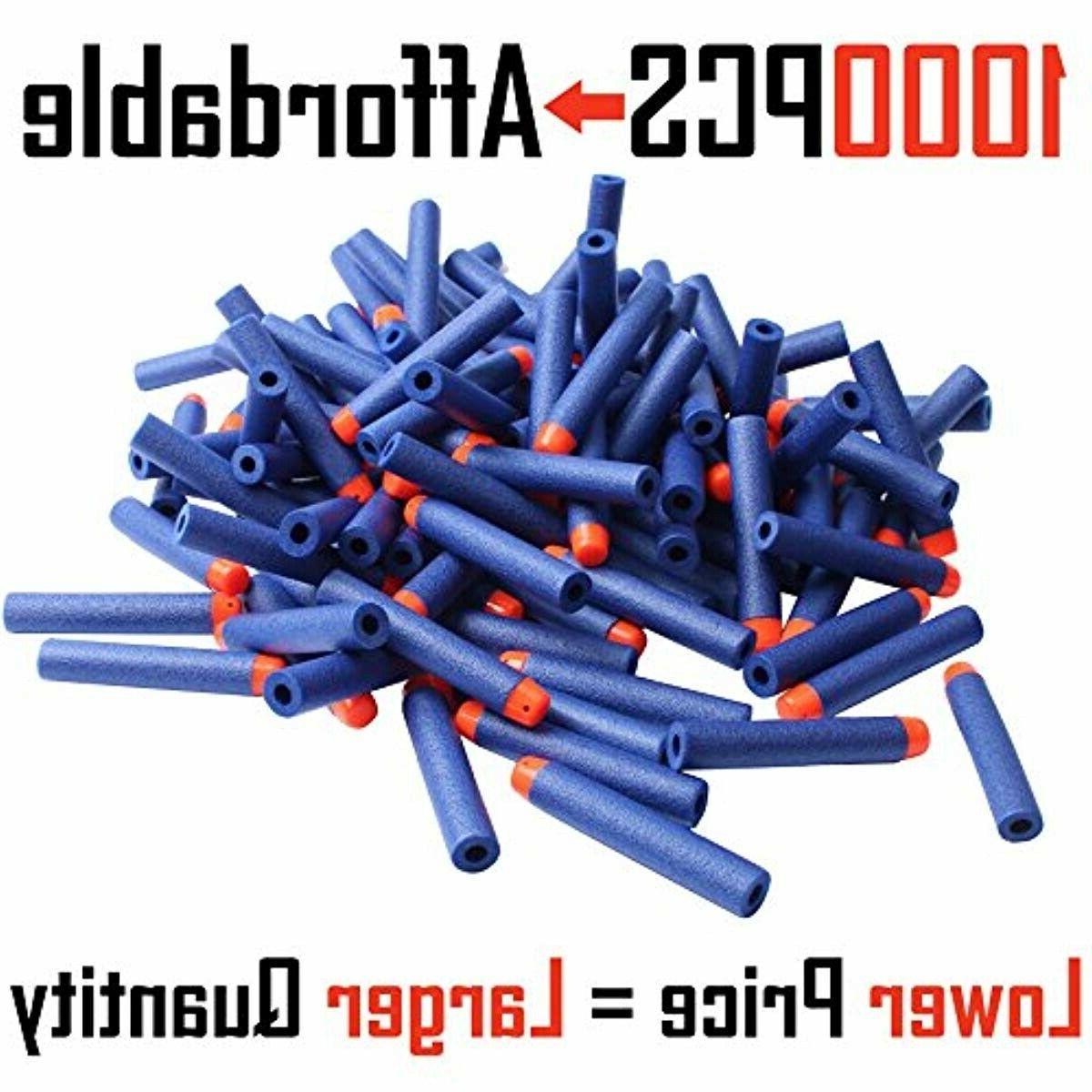 Refill 1000PCS Bulk Bullets Nerf Elite Series, Blue