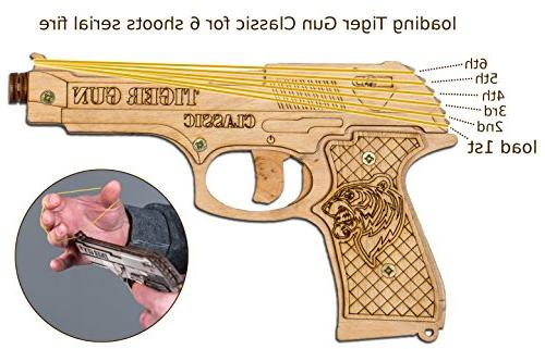 Rubber Toy Pistol 6 and Ammo for Indoor Outdoor and Pretend Play   Toy Gun for Boys   Gun