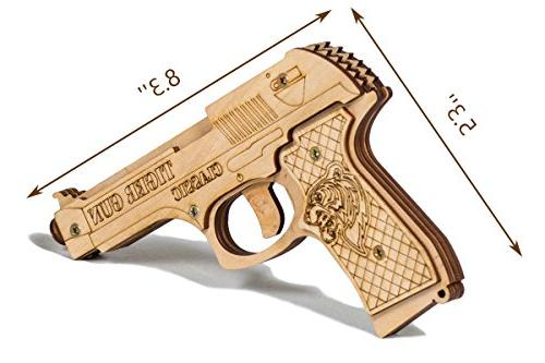 Rubber Gun Pistol Age 6 Ammo and Targets Indoor Pretend Toy That Shoots for Boys   Tiger