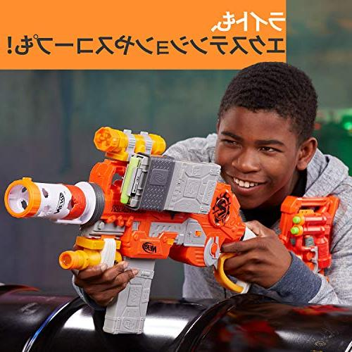 Scravenger Zombie Toy Blaster with 12-Dart Clips, Light, 40Mm, Stock, - For Kids, Teens, Adults