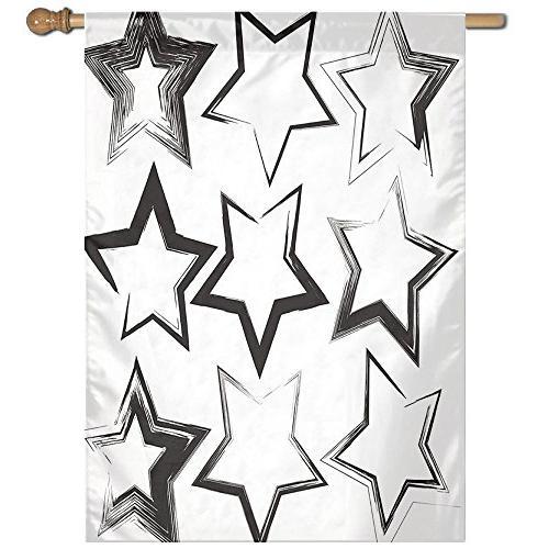 set grunge star brush strokes