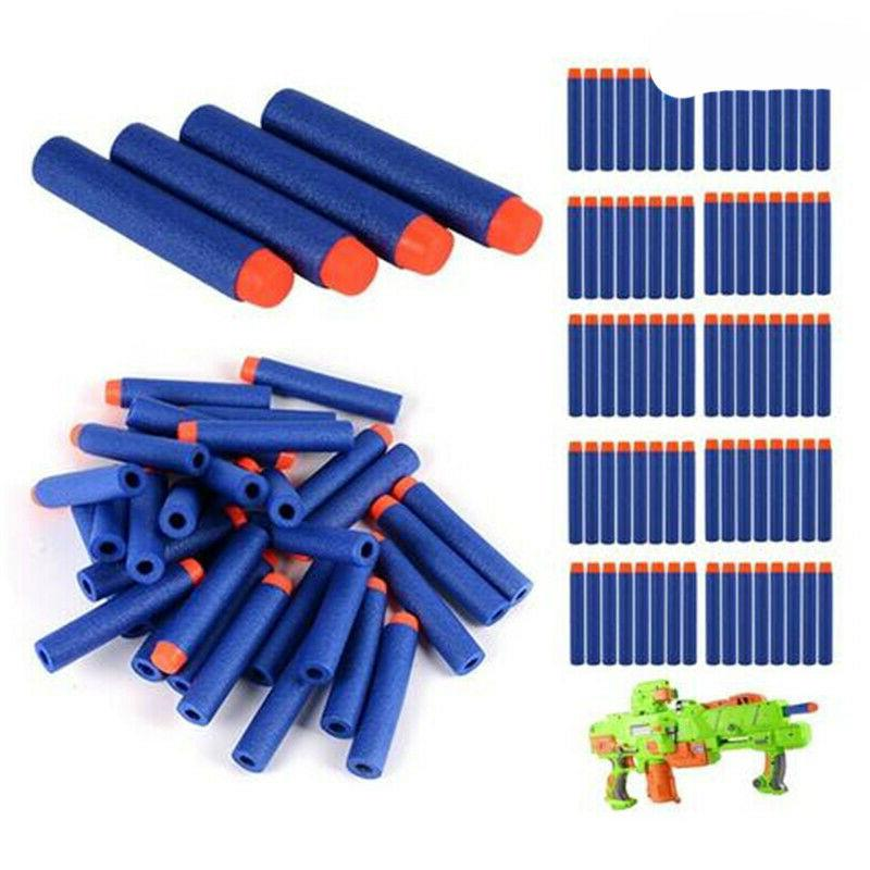 Nerf Soft Toy Darts Bullets Round Air Hole Foam Blasters 100Pcs