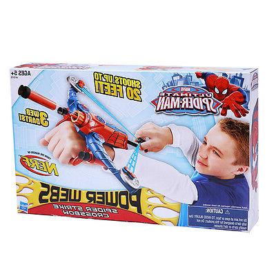 Spiderman Nerf Gun Bow Arrow Darts Soft for Kids