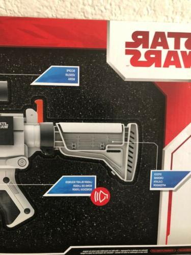 Star Wars Stormtrooper Nerf Blaster Gun Rifle Lights Sounds