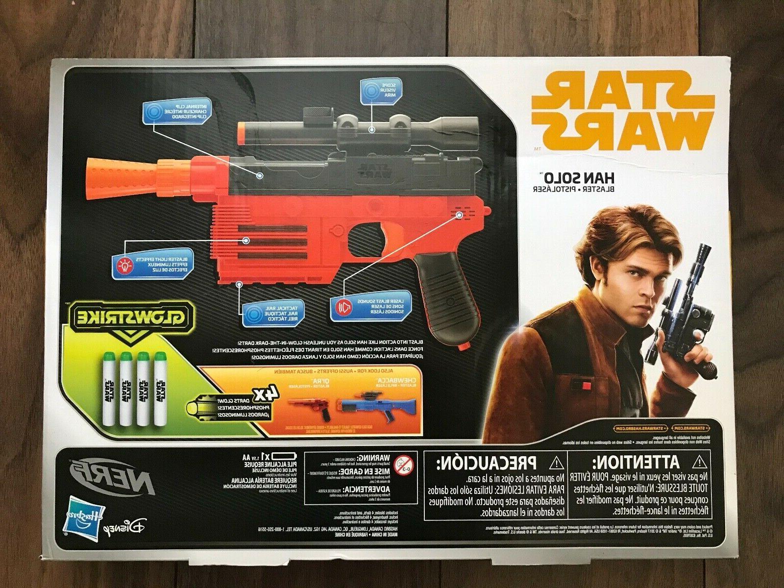 STAR WARS NERF GUNS Lot X Two HAN Pistols Soft