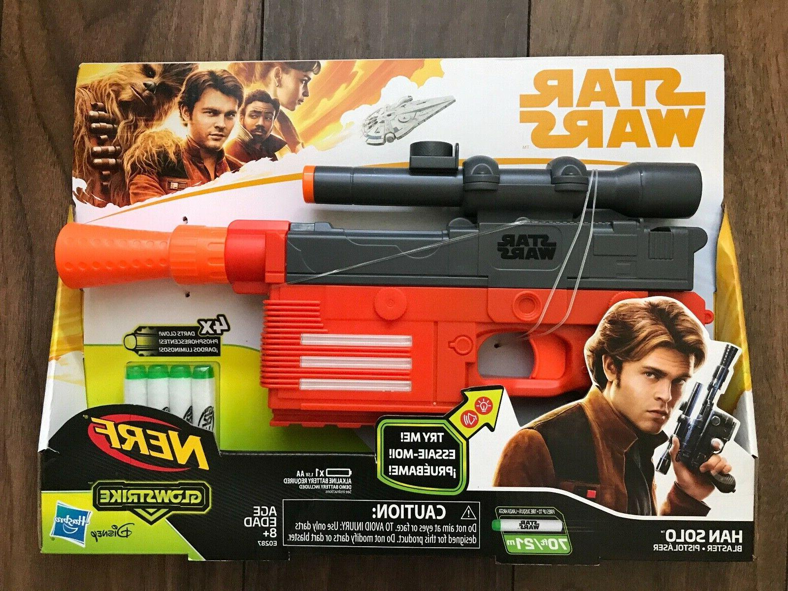 STAR WARS Lot X HAN SOLO BLASTERS Pistols Soft NEW