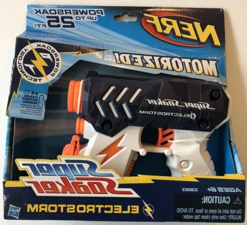 super soaker electrostorm motorized water gun up