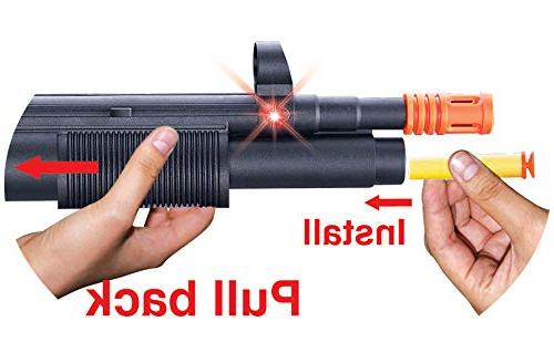Liberty SWAT Forces SMG Gun Electric Dart Launcher Lights, Darts Included