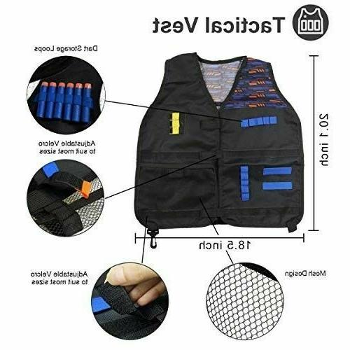 POKONBOY Vest Tactical Vest Compatible Nerf N-Strike Elit