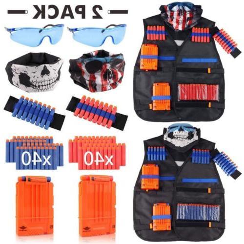 tactical vest kit 2 pack for nerf