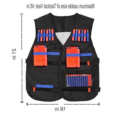 PINKULL Vest Guns N-Strike - Perfect Nerf Accessories Kids Adult
