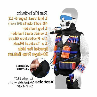 Tactical Vest Nerf boys N-Strike Foam Dart...