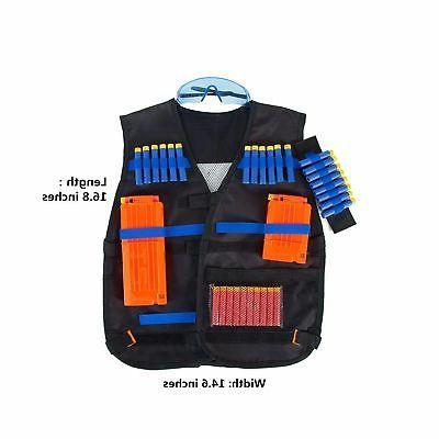 Tactical Vest Nerf N-Strike with Foam Dart...