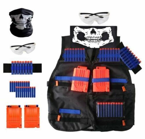 nerf vest kids tactical foam darts mask