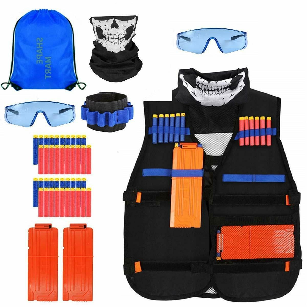 tactical vest kit nerf bullets vest