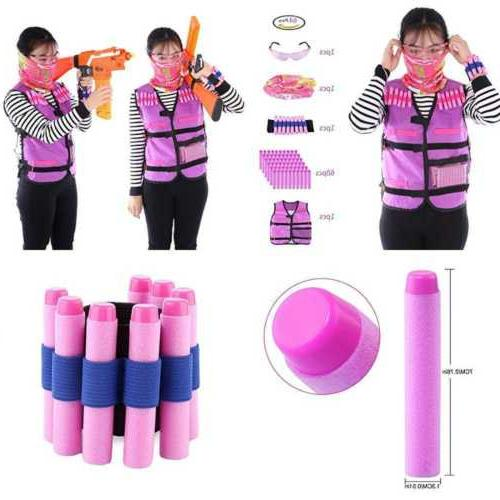 tactical vest kit peleustech girls for nerf