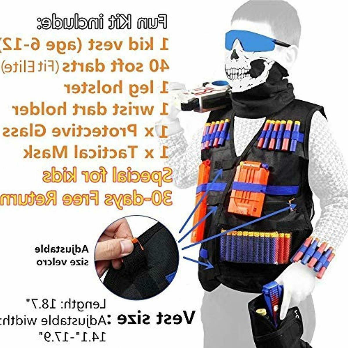 tactical vest kit with foam darts bullet