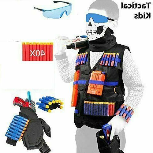 taveki tactical vest kit compatible for nerf