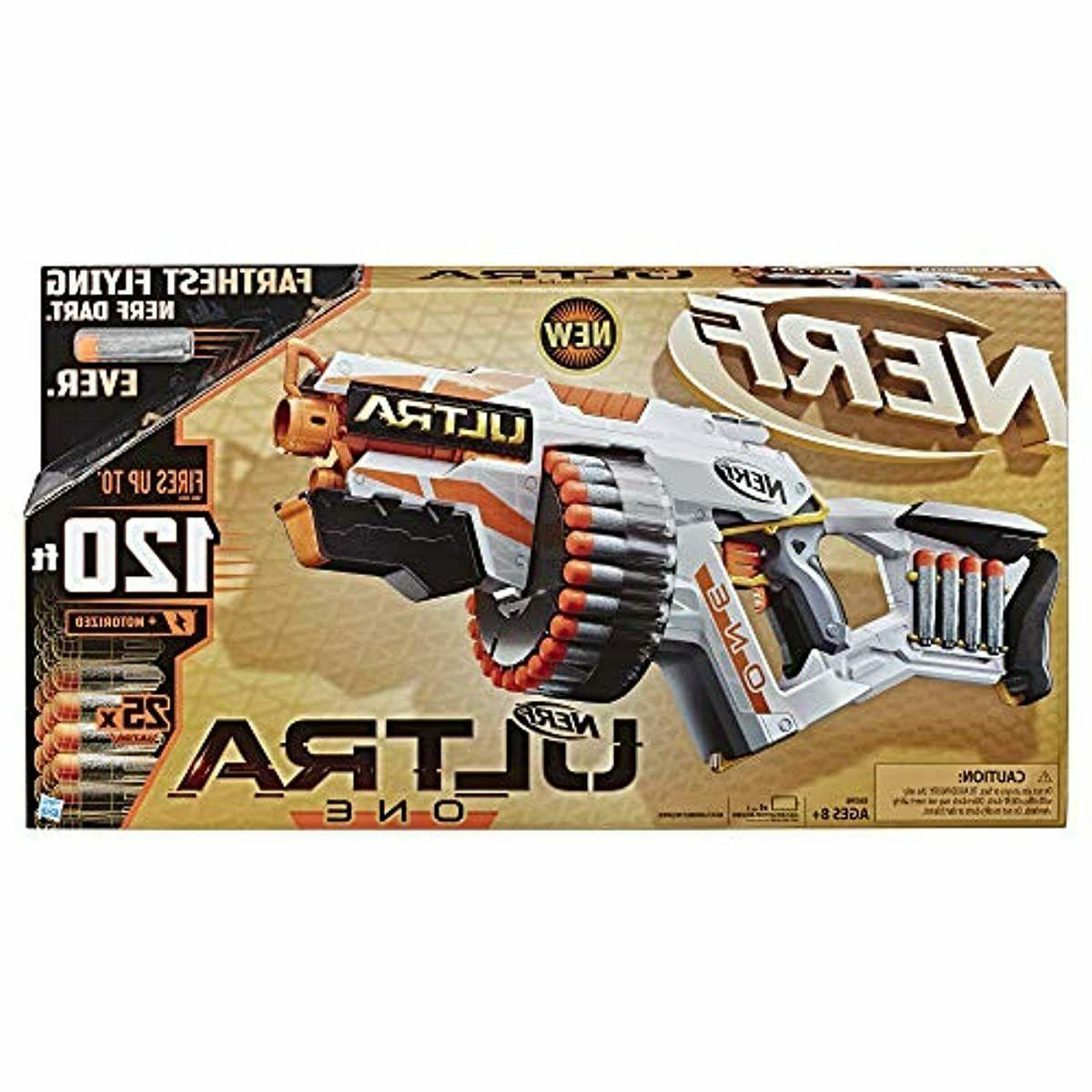 NERF Ultra One Motorized Blaster Gun Toy 25 Foam Darts Bullets Kids Outdoor Play