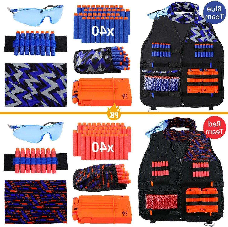 UWANTME 2 Pack Kids Tactical Vest Kit Nerf Guns Series