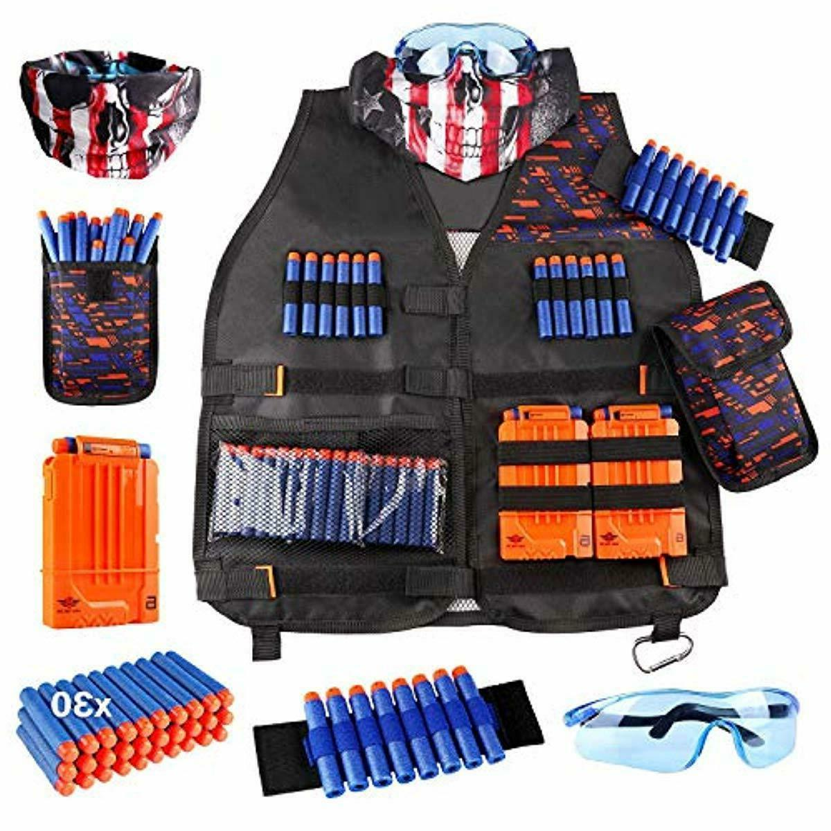 uwantme kids tactical vest kit for nerf